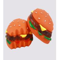45 Gram Hamburger Dog Vinyl Pet Toys For Dog Training / Playing / Chewing Manufactures