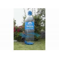 Quality Hand Painting PVC Inflatable Water Bottles For Trade Show / Celebration for sale