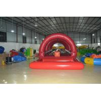Red Inflatable Sports Water Slide Road Customized Terrestrial Water Toy Manufactures