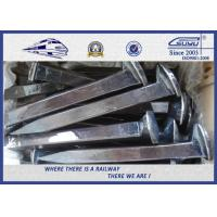 Buy cheap Custom Railroad Track Spikes , Threaded Screw Spike For Rail Fastening System from wholesalers