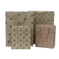 Quality 200gsm Recycled Printed Kraft Personalized Paper Bag With PP Handle For Package / Shopping for sale