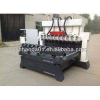 China wood 4 axis engraving cnc router machine with 10 spindles for mass production of furniture legs on sale