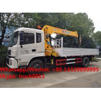2018s high quality and good price Dongfeng imitated tianjin 8tons telescopic boom mounted on cargo truck for sale Manufactures