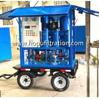 China Mobile car wheels trailer type transformer oil purifier, movable insulation oil treatment plant on sale