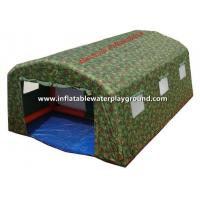 Quality Waterproof Large 6m Inflatable Military Tent TEN43 With Door / Camouflage Cloth for sale