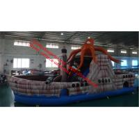 Inflatable Octopus slide inflatable pirate boat slide inflatable pirate ship slide Manufactures