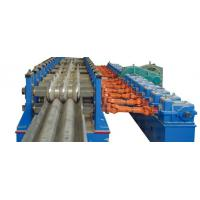 Baffle Highway W Beam Guardrail Roll Forming Machine Panasonic PLC Automatic Control Manufactures