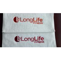 Buy cheap Lowest price small MOQ 100%cotton custom logo embroidered/printed gym towel from wholesalers