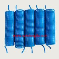 OD12mm PU air coil hose, pneumatic pipe line, Blue color with 100% new PU material, SGS certificates Manufactures