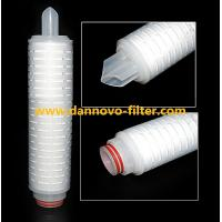0.22 Micron Polypropylene PP Pleated Water Filter Cartridge For Water Treatment Manufactures