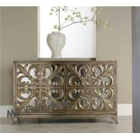 Living Room Mirrored Tv Corner Unit Brass Gold Color Fashion Design Manufactures