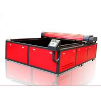 Printed Textile Fabric Laser Cutting Machine , Vision High Speed 300w Laser Cutter Manufactures