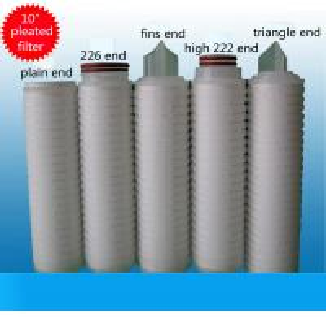 "pp pleated filter cartridg PP membrane 10""*0.1um folded cartridge filter Manufactures"