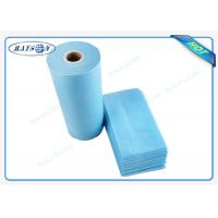 100% Flesh PP Nonwoven Bed Sheet , Medical Bed Sheets Blue Color Packing In Roll Manufactures
