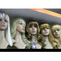 Custom Blonde Wavy Human Hair Full Lace Synthetic Wigs Glueless Heat Resistant Manufactures