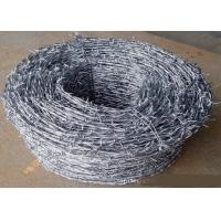 China Green Power Coated High Tensile Barbed Wire Reverse Twist , Normal Twist on sale