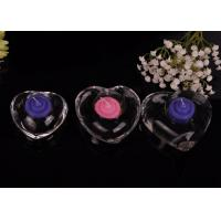 High White Transparent glass tealight candle holders for wedding centerpieces , Heart Shape Manufactures