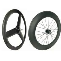 Glossy 700C Rear 88mm Track Wheels Light  Weight Anti Pull With Full Carbon Fiber Manufactures