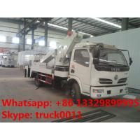 Dongfeng 12m-20m telescopic boom high altitude operation truck, best price hot sale telescopic overhead working truck Manufactures
