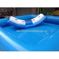 Small Light Blue Inflatable Water Pool Toys For Water Totter , PVC Tarpaulin Manufactures