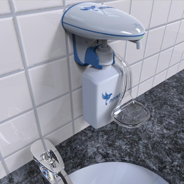 Quality Customized Liquid / Foam Commercial Hand Soap Dispenser 600ml Exclusive Bottle for sale