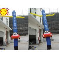 Blue Ripstop Oxford Nylon Silk Inflatable Air Dancer With A Mini Car And Two Hands Manufactures