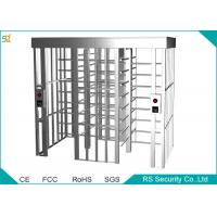 Stainless Steel Automatic Turnstiles Security Soluction Full Height Turnstile Manufactures