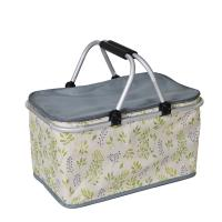 32L Travelling Outside Lunch Insulated Cooler Bags Foldable With Aluminum Frame