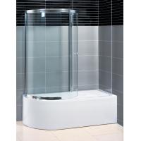China Two Panel Sliding Shower Bath Screen Curved ,  P Shaped Bath Folding Shower Screen on sale