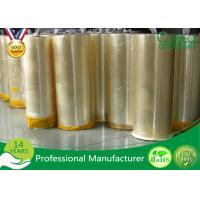 Single Side Strong Adhesive Bopp Jumbo Roll Tape For Packing / Slitting Manufactures