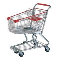 China OEM Heavy Duty Metallic PU Supermaket Shopping Carts with Wheels on sale