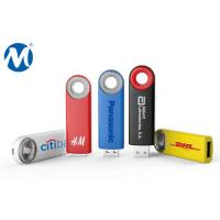 Metal Swivel capless usb flash drive with key loop and can do laser logo Manufactures
