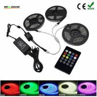 15M 10M 5050 RGB Tape 30led/m Flexible Waterproof Led Strip light+ Music Remote Controller +110V/220V Power supply Manufactures