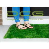30 Mm Pile Height Fake Artificial Grass Carpet With PP Coating Backing Manufactures