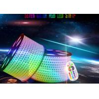Ip67 Led Rgb Strip Lights , 80ra High Voltage Led Strip Extremely Luminous Manufactures