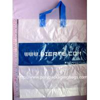 Frosted Plastic Bags / Soft Loop Handle Bag with Logo Printed Manufactures