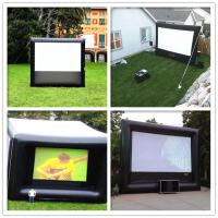 Giant Inflatable 0.9mm PVC Cloth Customized Blow Up Movie Screen For Playground Manufactures