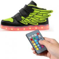 Kids Rechargeable Light Up Shoes , Remote Control Kids Led Light Up Shoes Manufactures