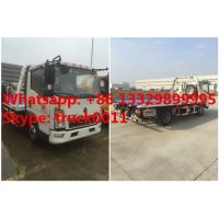 Quality China wrecker vehicle plarform road wrecker 4ton Sino wrecker truck, car towing service truck vehicle recovery wrecker for sale