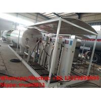 Factory sale good price 15CBM mobile skid lpg gas refilling station with 1-2 electronic scales for Nigerian market Manufactures