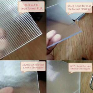 Big size 3D Lens Sheet 120cmx240cm 6mm16lpi 3D Lenticular board for 3D Lenticular Print Effect on big size 3D poster Manufactures