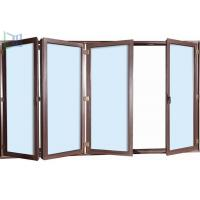 Safety Exterior Aluminium Bifold Doors , Folding Glass Patio Doors As2047 Standard Manufactures