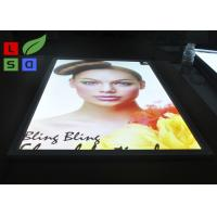 Aluminum LED Snap Frame Light Box With Ceiling Hanging Bracket For Menu Display Manufactures