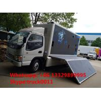 China famous JAC brand 4*2 P6 outdoor mobile LED advertising truck for sale, hot sale JAC P6 LED billboard vehicle Manufactures