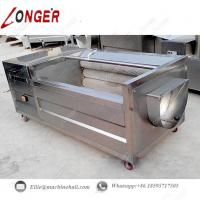 Brush Type Potato Washing Machine|Automatic Brush Roller Potato Washing Machine|Brush Roller Potato Washing Machine Manufactures