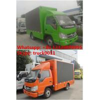 Quality HOT SALE! Forland 4*2 RHD three-side P6 mobile LED screen advertising truck for sale