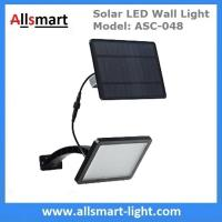 18W Solar LED Wall Light with LiFePO4 Battery Separate Solar Panel 3m Wire Adjustable Angle 48LED Solar Garden Light Manufactures