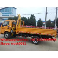 Quality China best price T-KING 4*2 2.5Tons cargo truck with crane for sale, factory direct sale price dump ttruck mounted crane for sale