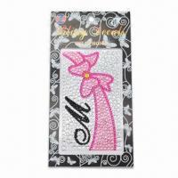 Crystal Sticker for Mobile, Easy to Remove, Made of Crystal, Acrylic, Diamond, Glue and Glitter Manufactures