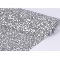 China 54 Width Silver Glitter Cotton Fabric For Making Shoes Material And Wall Covering on sale